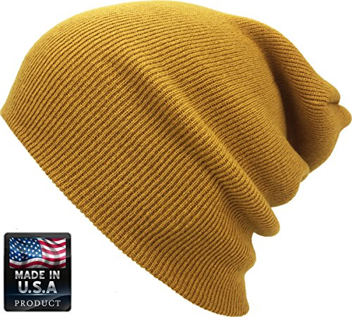 Review KBETHOS SKIHAT-Long Tim Thick Beanie Skully Slouchy & Cuff Winter Hat Made In USA