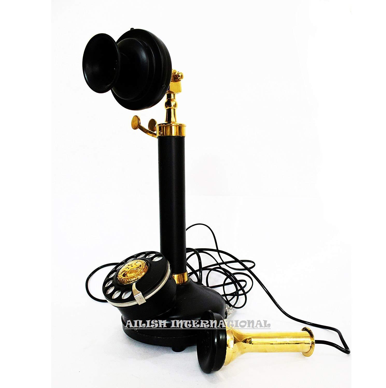 AILISH INTERNATIONAL Vintage Candlestick Beautifully Handcrafted Full Working Telephone by AILISH INTERNATIONAL