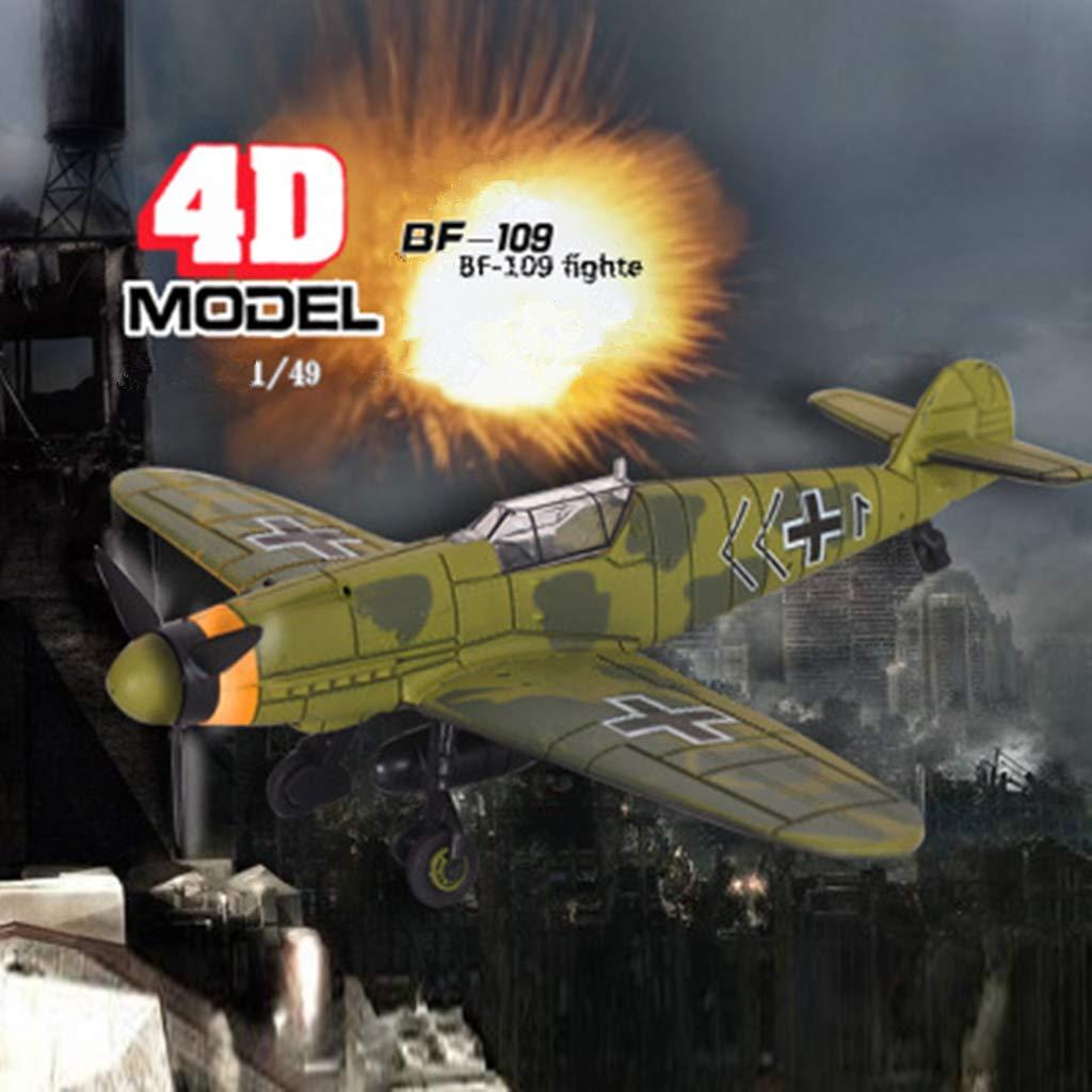 SMALLJUN 1 Pi/èce Seconde Guerre Mondiale Combattant Allemand BF109 1:48 Assembl/é Militaire Avion Mod/èle Simulation Jouets /Éducatifs Collection Ornements Al/éatoire Couleur