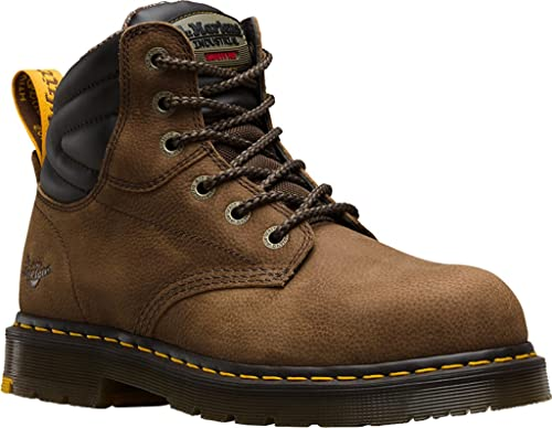 Dr. Martens Hynine St, Zapatos de Seguridad Unisex Adulto, Marrón (Brown 203), 46 EU