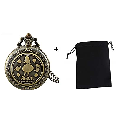 "Alice in Wonderland "" Classic Alice Antique Pocket Watch: Toys & Games [5Bkhe1201464]"