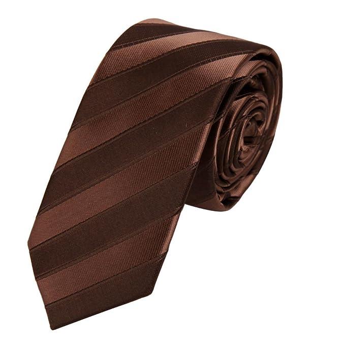 PS1080 de Brown Fine delgada corbata a juego excelente para ...