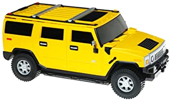 Amazon.com: ha GM Hummer H2 Yellow 1:24 Licensed Friction Car ...