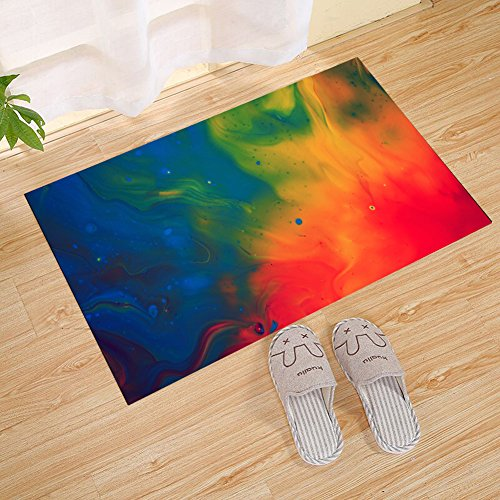 JANNINSE Abstract Oil Painting Large Door Mat, Free Color Oi