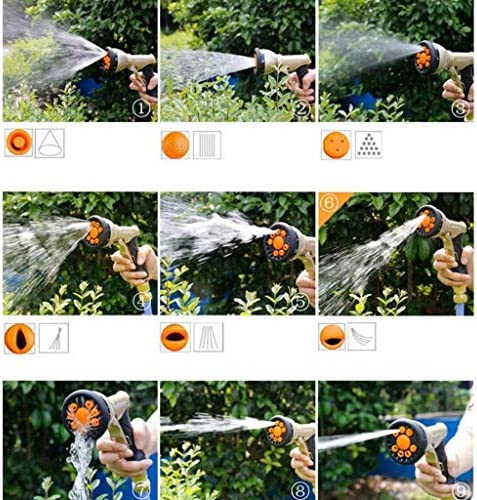 Zairmb Expandable Garden Hose Pipe Strongest Hose pipe Triple Core Latex and Solid Metal Fittings Pattern Spray Nozzle Easy Storage Flexible Water Hose-7.5M