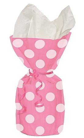 Shatchi 20 bolsas de celofán con lunares rosas con lazos ...