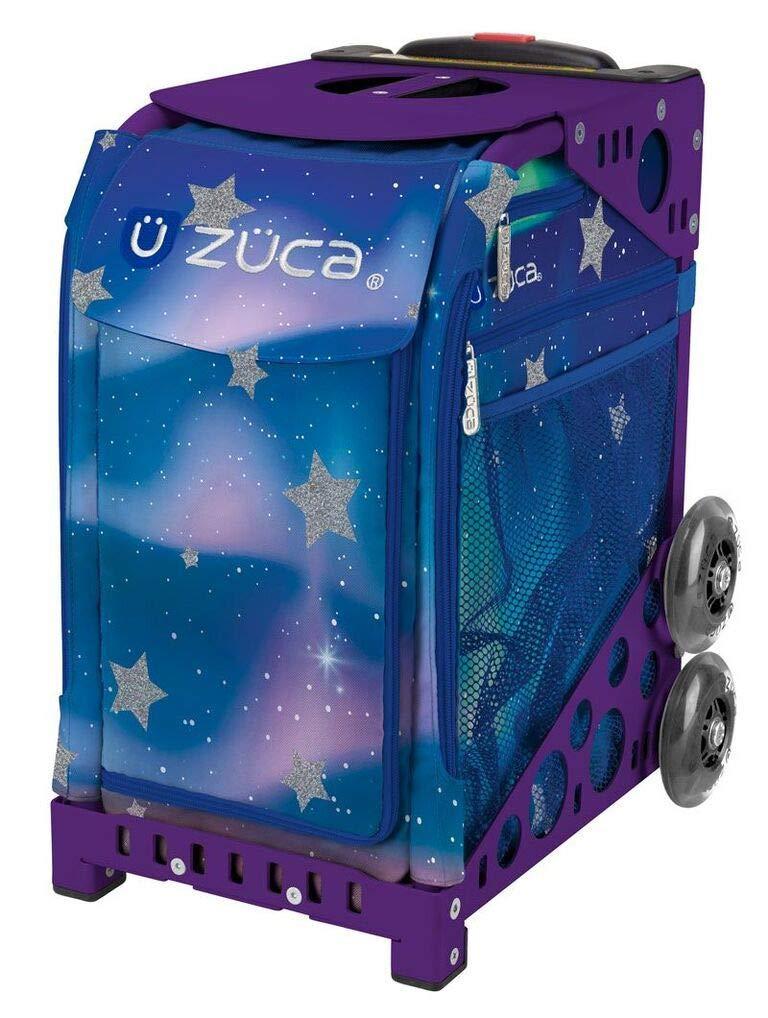 ZUCA Aurora Sport Insert Bag and Purple Frame with Flashing Wheels