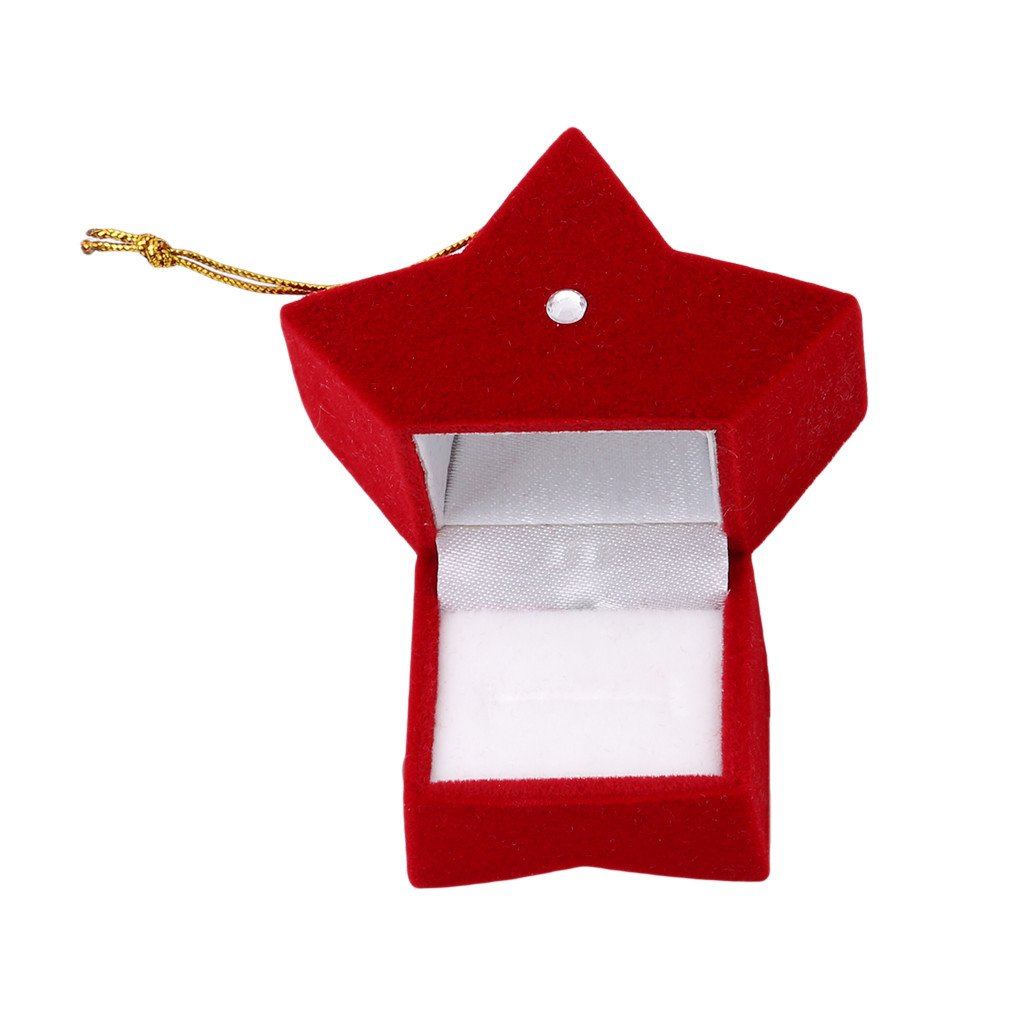 HENGSONG Creative Five-pointed Star Shape Storage Box Accessories Storage Crafts Christmas Wedding Ring Necklace Earring Case Gift Mei_mei9