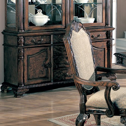 French Buffet Hutch (Coaster 100134B-CO Deep Brown Finish Saint Charles Buffet/Hutch)