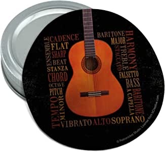 Amazon Com Music Terminology Guitar Round Rubber Non Slip Jar Gripper Lid Opener Kitchen Amp Dining