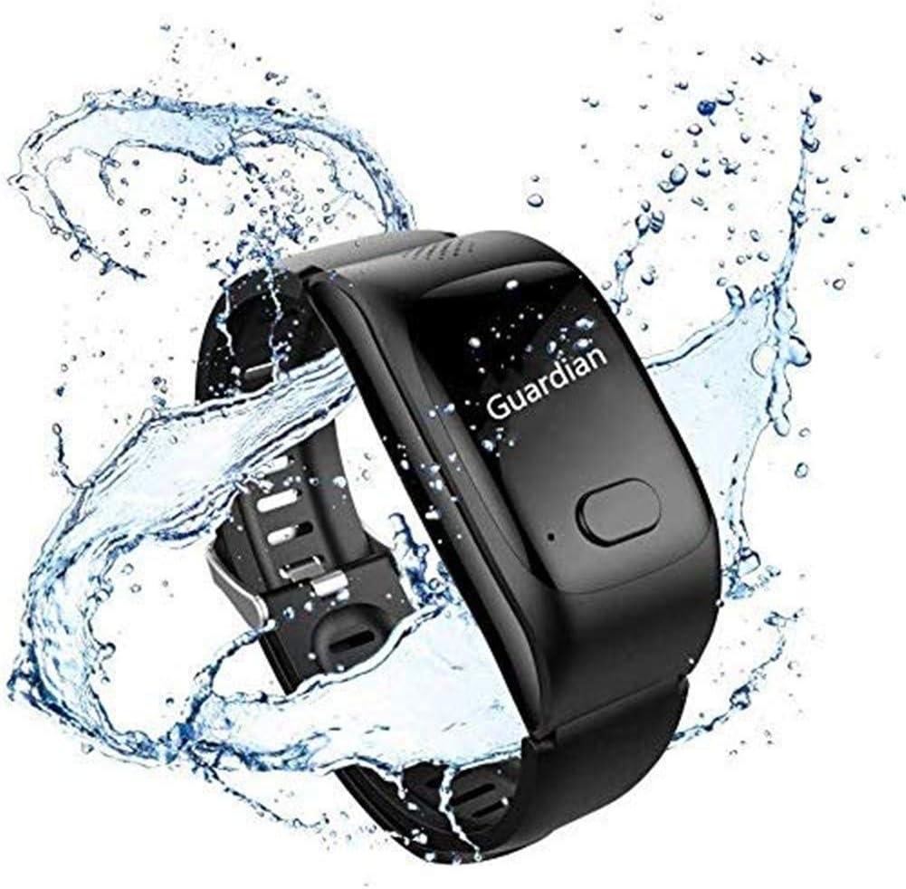 LEDLXK Ancianos Reloj Inteligente con Función De Teléfono De Emergencia SOS Y La Prueba De Tasa De Presión Arterial del Corazón GPS Posicionamiento