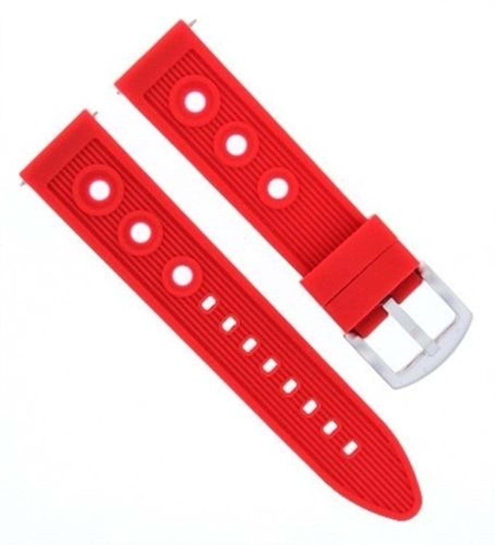 24 mm Rubber Diverバンドストラップfor Citizen eco-drive bl5250 – 02l Watchレッド# 9r  B07D6Q6KJT
