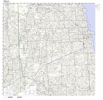 Amazoncom Berwyn IL ZIP Code Map Laminated Home Kitchen