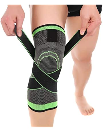 34659a1fd5 Knee Brace, Aisprts Compression Knee Sleeve with Adjustable Strap for Pain  Relief, Meniscus Tear