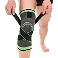 eeb5d5416c Knee Brace, Aisprts Compression Knee Sleeve with Adjustable Strap for Pain  Relief, Meniscus Tear