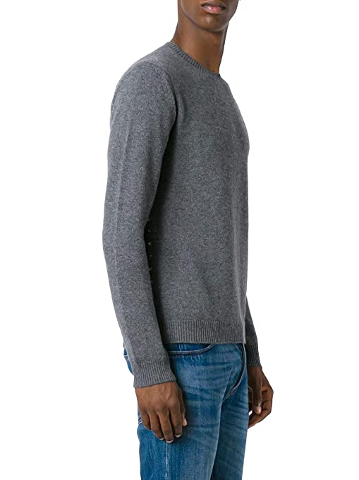 1953b465 Valentino Men's QV3KC14D3NS080 Grey Cashmere Sweater: Amazon.co.uk: Clothing