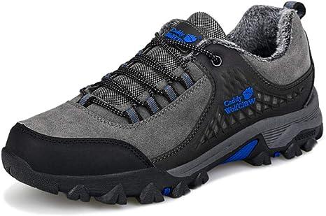 MERRYHE Zapatos De Escalada Hombres Vintage Outdoor Trainners Deportes Acampar Zapatillas De Running Trekking Senderismo Montañismo Calzado con Forro Polar: Amazon.es: Deportes y aire libre