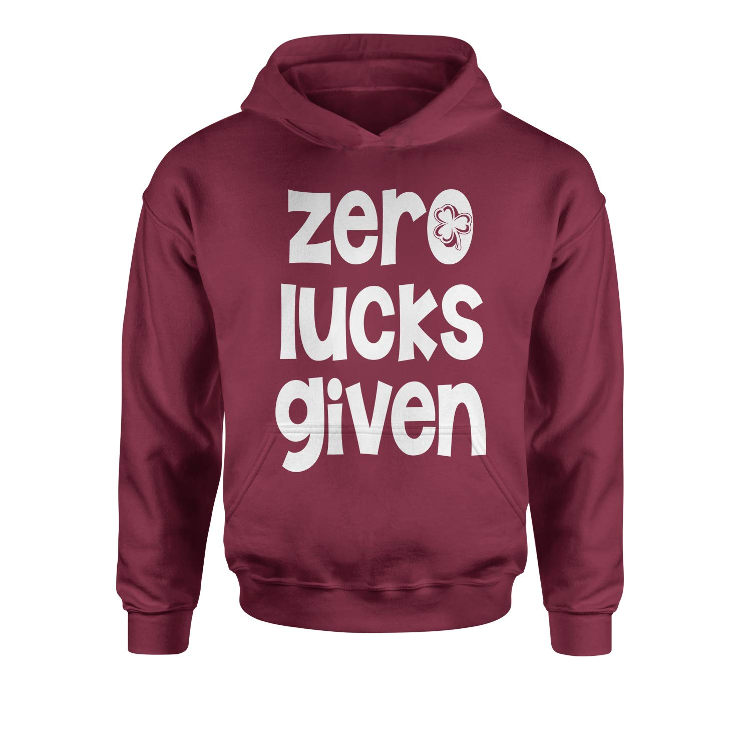 Expression Tees Zero Lucks Given St Paddys Day Youth-Sized Hoodie