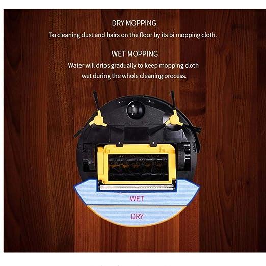 SPFAZJ Robot de limpieza Robot de barrido de llenado automático Robot de secado húmedo y arrastre Limpieza programada Aspirador de aspiración grande: ...