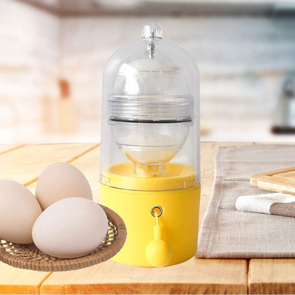 Batir la yema de huevos de mezcla en el interior de los ...