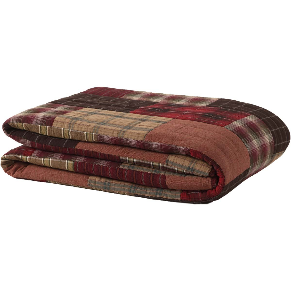 VHC Brands Rustic & Lodge Bedding - Wyatt Red Quilt, Queen, by VHC Brands (Image #3)