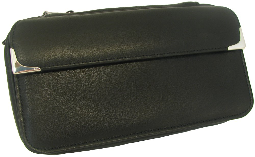 Martin Wess ''Silverline'' Metis Nappa Leather 3 Pipe Bag W. 925 Sterling Silver by Martin Wess