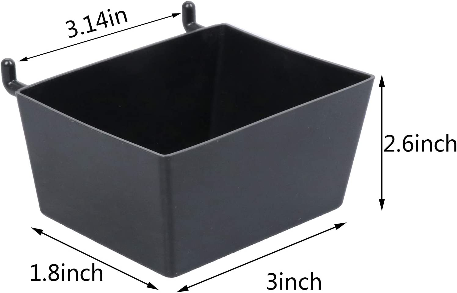 Hobby Supplies TIANTIAN 5 Pcs Pegboard Bins Kit Pegboard Parts Storage Bin Plastic Hanging Stacking Workbench Bins for Organizing Hardware,Small Parts