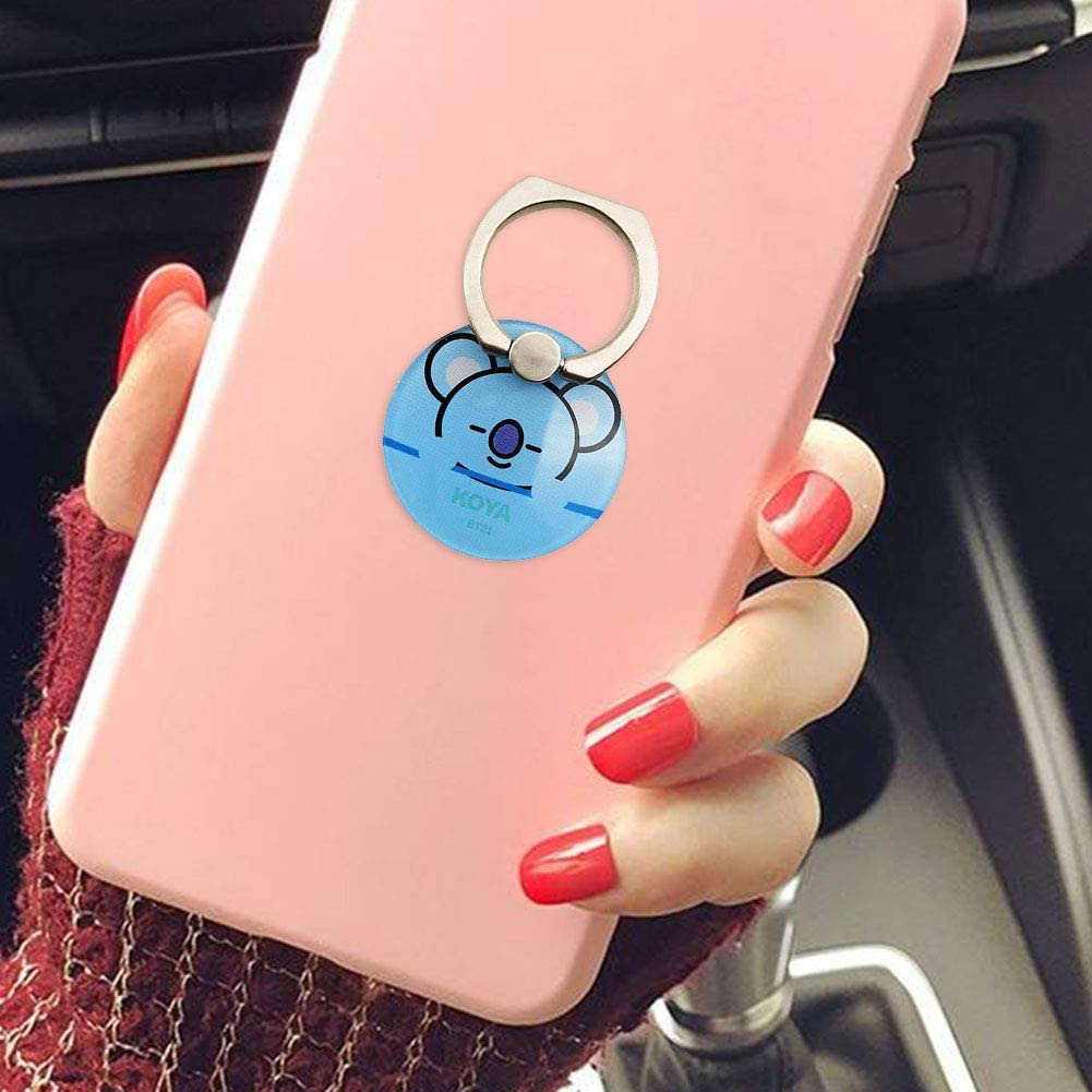 Style 06 Hosston BTS Phone Stand Holder Kpop Cooky Chimmy Van Cute Cartoon Phone Ring Stand Holder Finger Ring Grip Stand Holder Best Gift for A.R.M.Y