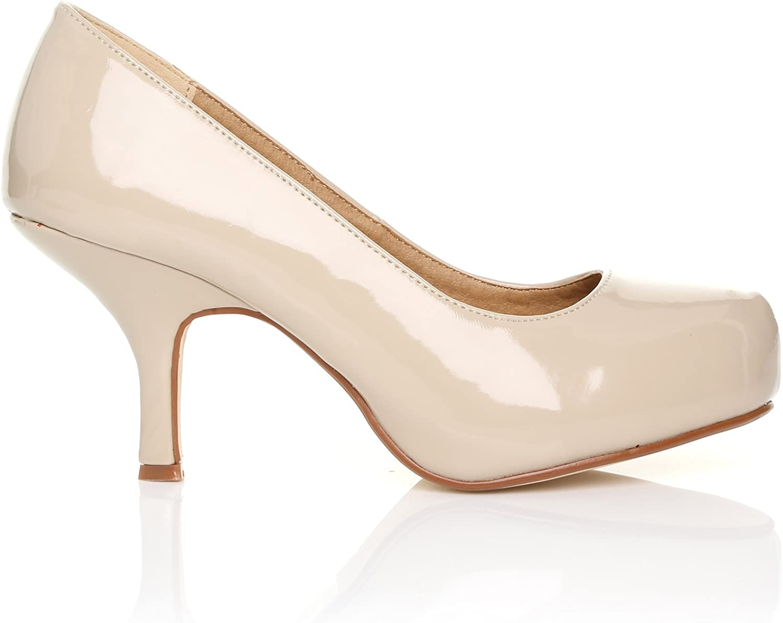 Amazon.com | HILLARY Womens Patent PU Leather Stiletto