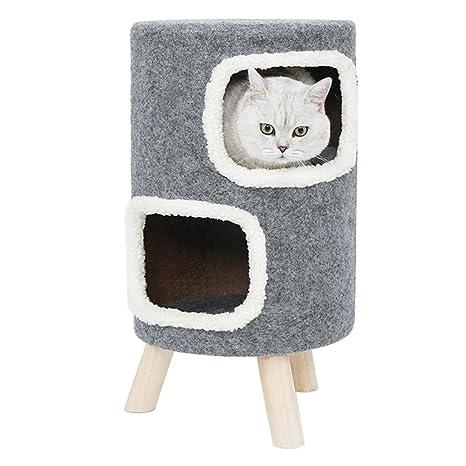 Jaulas Cama para Perros Camada para Gatos De Dos Pisos Casa De Gato Taburete para Perros