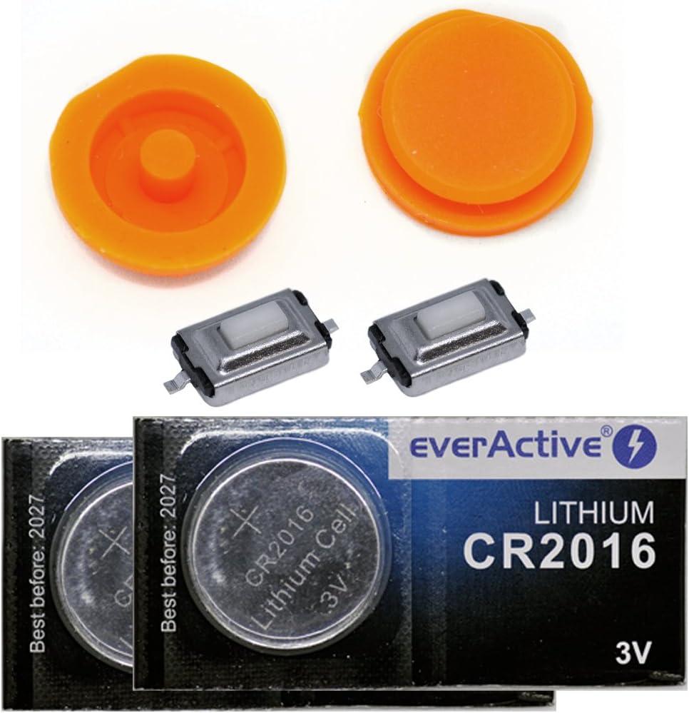 Repair Reparatur Set Auto Schlüssel Druck Taste 2x Elektronik