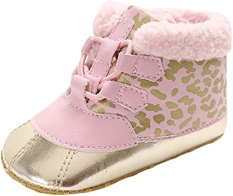 Voberry Cute Baby Girls Flower Soft Sole Boots Toddler Shoes