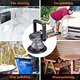 Buffer Polisher, TACKLIFE 6-Inch/5-Inch Dual Action Random Orbital Car Polisher, Car Detailing Kit with Variable Speed, 1500-6400RPM, 4 Foam Pads, Packing Bag for Car Polishing and Waxing - PPGJ04A