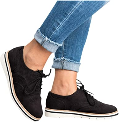 Womens Ankle Flat Suede Lace-up