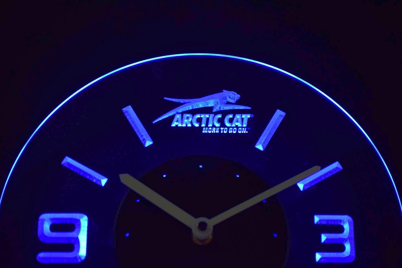Arctic Cat Snowmobiles 10 Inches Circle Led Illuminated Wall Clock Blue