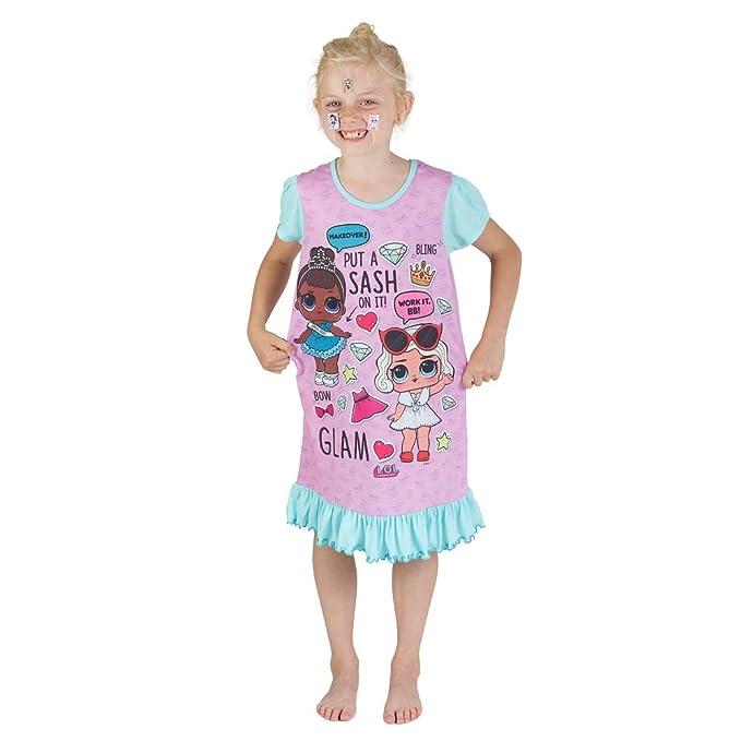 L.O.L Surprise Camisones de camisón o camisón de Confeti Pop Vestidos de camisón para niñas Lil Lencería escandalosa Littles: Amazon.es: Ropa y accesorios