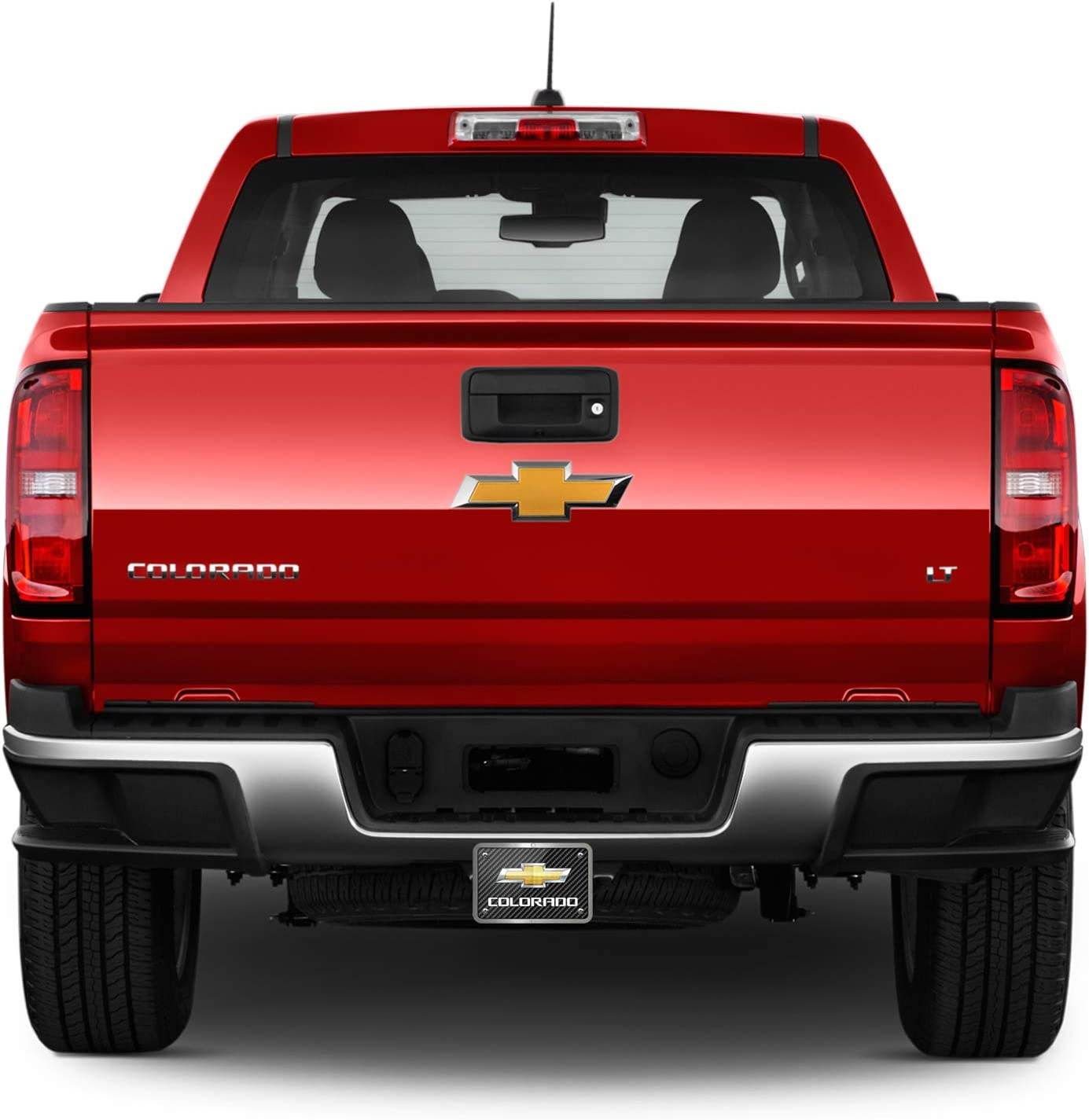 Carbon Fiber Look Graphic Plate Billet Aluminum 2 x 2 inch Tow Hitch Cover Chevrolet Colorado iPick Image