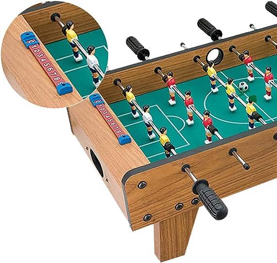 Mesa de fútbol Juegos de fútbol Tablero de fibra de madera Club de acero inoxidable No se deforma fácilmente Regalo saludable y no tóxico para los niños (Color : WOOD COLOR ,