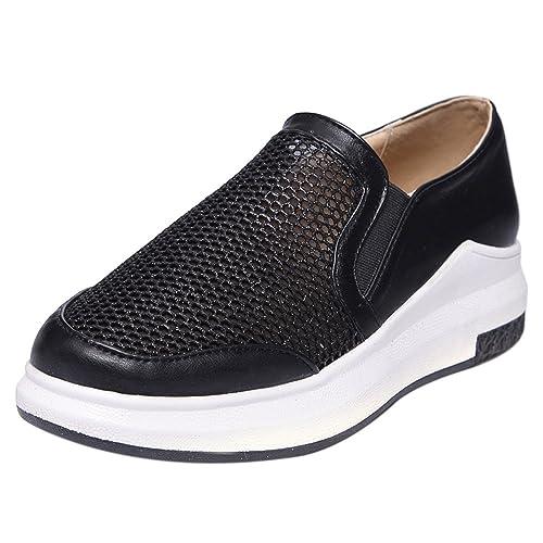 RAZAMAZA Mujer Cerrado Comfortable Zapatillas Deportivo sin Cordones Mocasines Zapatos Mesh: Amazon.es: Zapatos y complementos