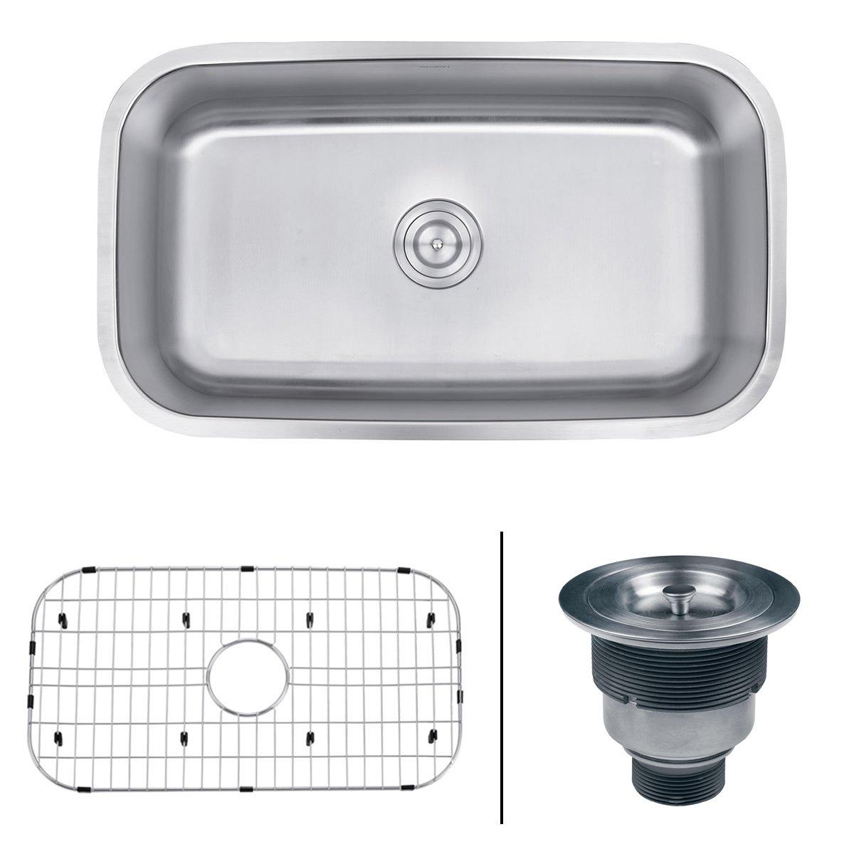 Ruvati 32-inch Undermount 16 Gauge Stainless Steel Kitchen Sink Single Bowl - RVM4200