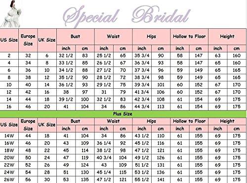 Elfenbein Style9 Special Vestido Mujer Bridal novia mangas Sin de Px8R0FP