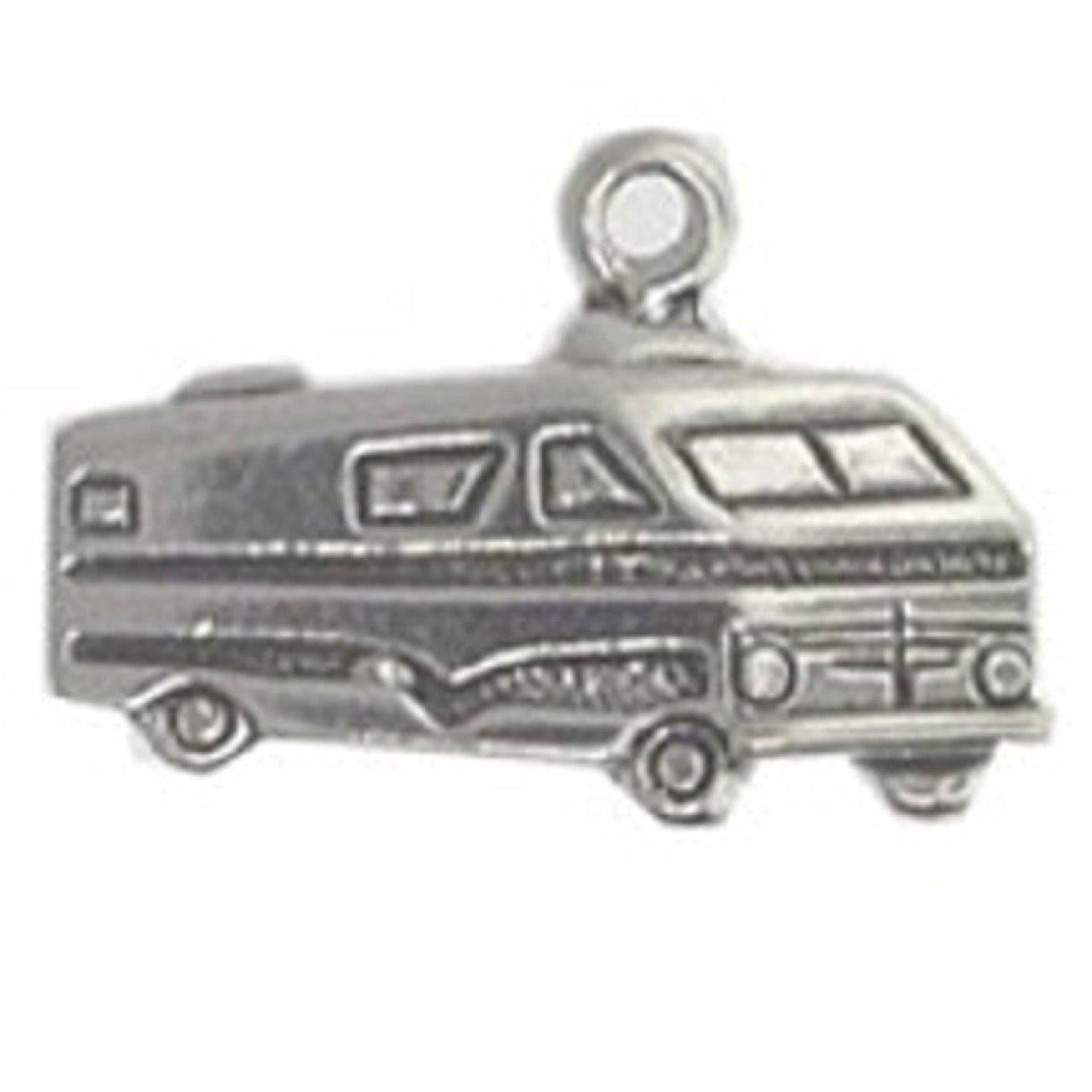 Sterling Silver RV Motorhome Recreational Vehicle Charm