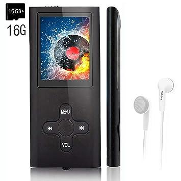 Reproductor de MP3 con Tarjeta de Memoria de 16 GB ...