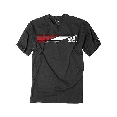 Factory Effex Honda Speed T-Shirt (Medium) (Charcoal): Automotive