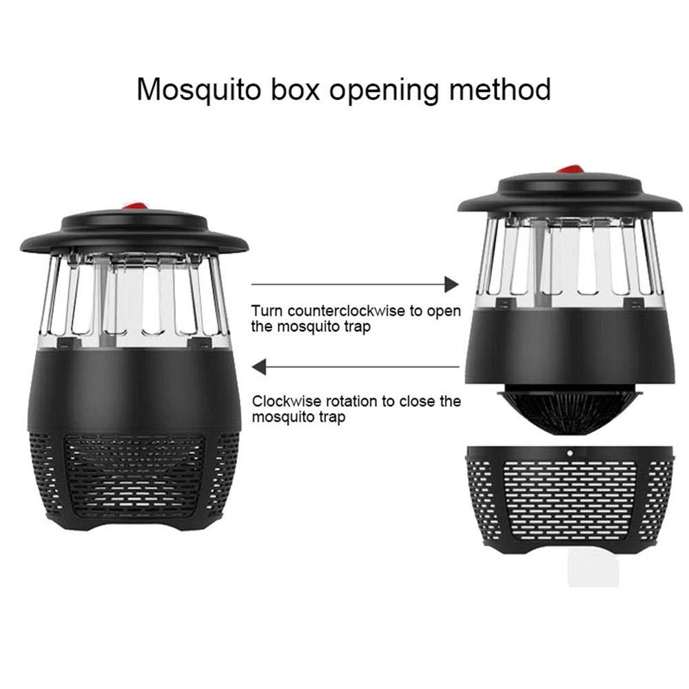 Asesino de Mosquitos Fotocatalizador de LED Repelente de Mosquitos Electr/ónico Asesino Insecto Pawaca Bug Zapper Repelente de Mosquitos Bug Zapper