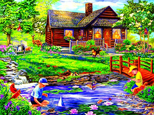 SunsOut Summer Retreat 1000 Piece Jigsaw Puzzle