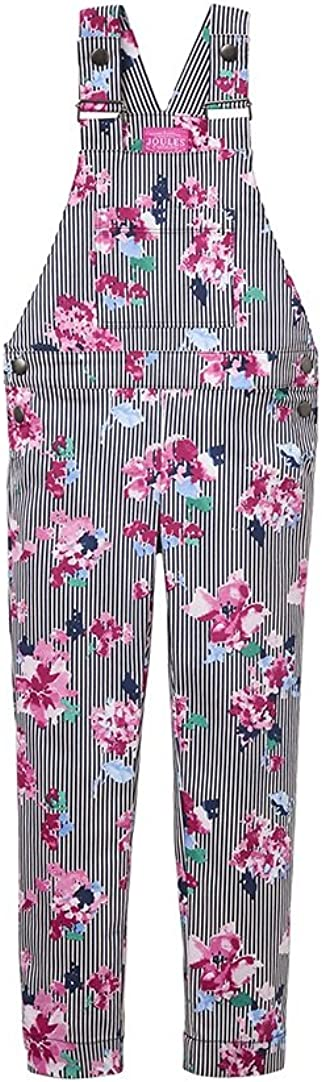 Joules Stretch Dungarees Stripe Floral