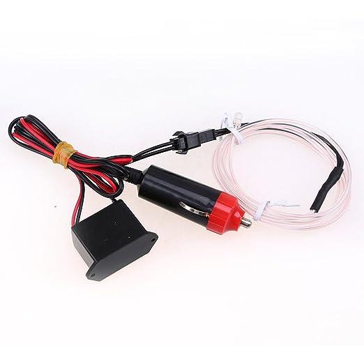POSSBAY EL Wire Neon Beleuchtung Innenbeleuchtung 5M Mit 12V Inventer Fuer Auto Weihnachtsfeiern Halloween