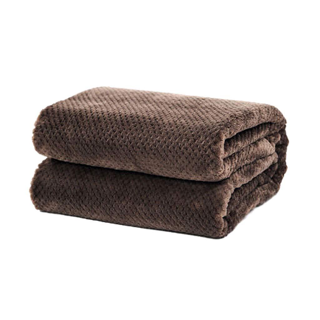 シンプルなレジャー多機能冬の厚いソフトウォームブランケットショールソファのオフィスを維持 (色 : Brown, サイズ さいず : 100×140cm) B07K5BJKPB Brown 100×140cm