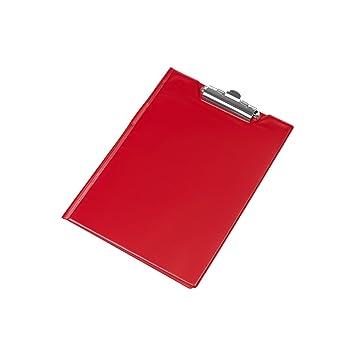 Schreibmappe Klemmbrett mit Schutzklappe Mappe blau Schreibbrett Schreibblock DIN A5 Metallhalter Clip PVC
